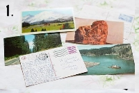 USED touristy postcards swap #5