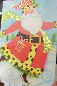Recycle a Christmas card as postcard #20 -Santa
