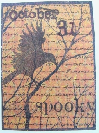 Halloween Raven Crow ATC Swap