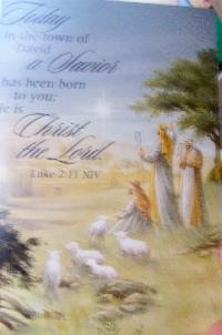 Recycle Christmas card as postcard #21 - Shepherds