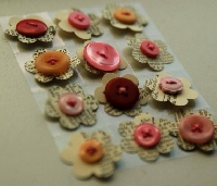 CQ: Dictionary Flower Buttons - Brown/EDITED - INT
