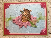 House Mouse stamp/ hand made card
