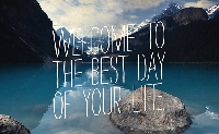 Postcard: The best day of your life- INTERNATIONAL