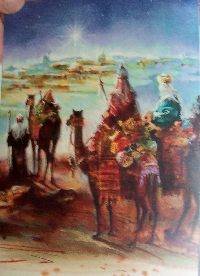 Recycle Christmas card as postcard #26 - Wise Men