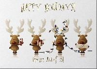 Christmas Card Swap # 9- Reindeer