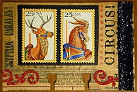 ART-Rolo with an Animal Postage Stamp