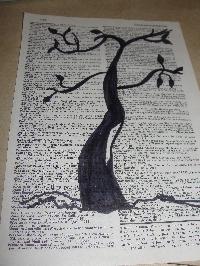 Book Page Art - ATC