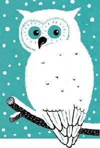 Christmas ATC with an Owl