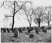 Cemetery Postcard USA