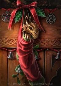 Trinket's Christmas Dragon ATC swap