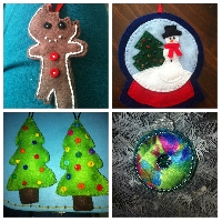 Felt Christmas Ornament Swap #1