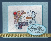 Quick Snow Person Christmas Card