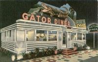 Vintage postcard of a Diner / Restaurant