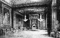 Vintage postcard of an interior