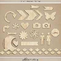 Wood Veneers ~ Scrapbook Embellishments