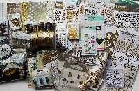 Gold Embellishments ~ Scrapbooking