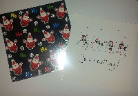 Recycled Christmas Card into a Postcard - Intl