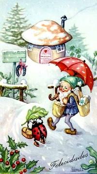 Gnome in the Snow
