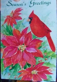 Recycle Christmas card #3 - bird or birds