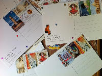 One person from each country postcard swap!