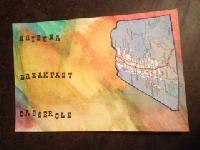 ~ E, F, G ~ Recipe Postcards