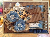 HM Card with layers, flowers and a Twig Challenge