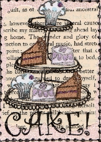 Sweets ATC # 1 - Cakes
