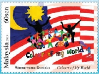 Postage Stamps Wishlist Postcard #2 (1 per country