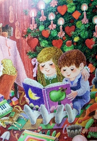 Recycle Christmas card postcard #9 - Christmas tre