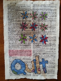 Private Letter Q Altered Dictionary Page