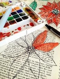 Art on Written Page - ATC