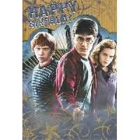 Harry Potter Birthday Postcard or Card