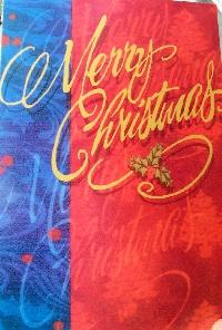 Recycle a Christmas card #16 - Merry Christmas