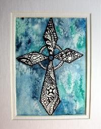 Zentangle ATC - Cross