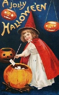 Halloween/Fall themed Mail art, letter, and item