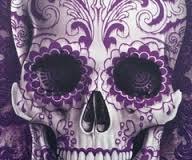 Purple sugar skull ATC