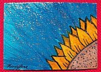 Watercolor and Glitter ATC