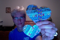 WTE: Collaged Washi Hearts