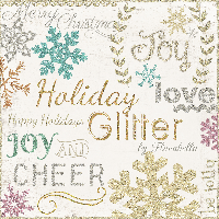 I Love Glitter Christmas Cards! USA Only