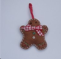Gingerbread man Handmade Ornament Swap