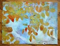 Handmade Art Postcard ~ Fall Theme