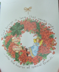 Recycle Christmas Card #27 - Wreath