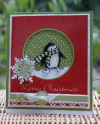 Theme A Week Christmas Cards #6 Penguins