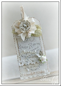 Shabby Chic Winter Themed #8 tag