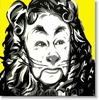 Wizard of Oz ATC # 4 Cowardly Lion