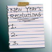 New Year's Resolution(s), on a postcard