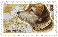 Postage Stamp ATC Series #9: Dogs