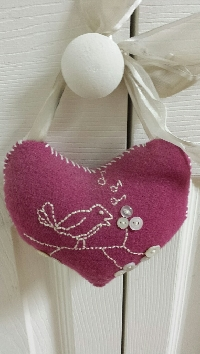 Beginners Handmade Fabric Heart