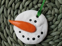 Christmas Ornament January Swap Snowman