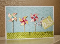 Handmade Spring notecard and a note!
